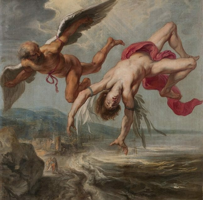 painting Jacob Peter Gowy's The Flight of Icarus