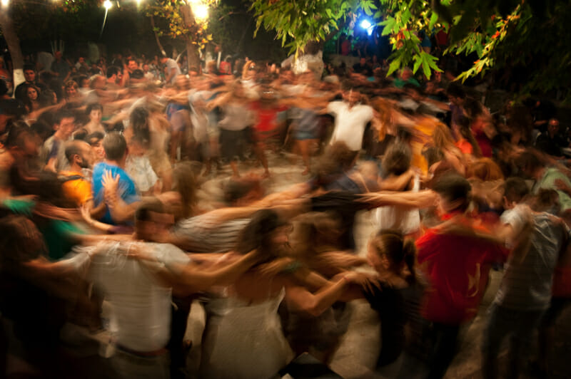 ikaria festivals people dancing alltogether